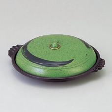アルミ製品 ジャンボ陶板アリソ(フッ素加工)30cm [30φ x 9.5cm] アルミ (7-918-33) 【料亭 旅館 和食器 飲食店 業務用】