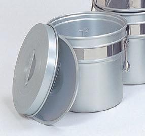 ケットル・食缶 二重食缶(段付) アルマイト 12リットル [32φ x 27.3cm] アルミ (7-966-15) 【料亭 旅館 和食器 飲食店 業務用】