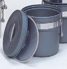 ケットル・食缶 二重食缶(段付) ハードコートアルマイト(内外側仕上げ) 16リットル [32φ x 31.7cm] アルミ (7-966-16) 【料亭 旅館 和食器 飲食店 業務用】