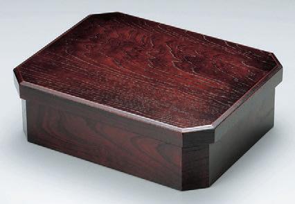 客室用品 角切り茶枢ケヤキ [40.5 x 32.5 x 12.5cm] 木製品 (7-906-9) 【料亭 旅館 和食器 飲食店 業務用】