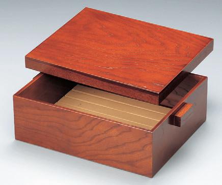客室用品 長角茶枢ケヤキスノコ付 [40.5 x 30 x 15.6cm] 木製品 (7-906-10) 【料亭 旅館 和食器 飲食店 業務用】