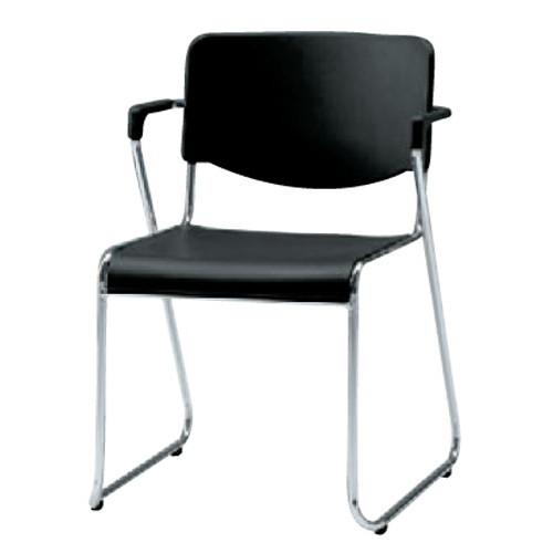 椅子 スチールチェアSCM-25・ACグレー [49 x 56 x H76.5 x SH43.5cm] SP (7-778-3) 【料亭 旅館 和食器 飲食店 業務用】