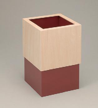 客室用品 キューブスライドダストBOX赤 [20 x 20 x 33cm] 木製品 (7-905-22) 【料亭 旅館 和食器 飲食店 業務用】