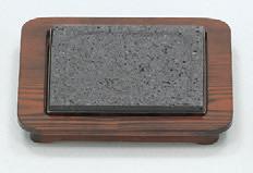 グリル鍋・水晶 石焼セット(大) [24 x 24 x 3.5cm] (7-920-8) 【料亭 旅館 和食器 飲食店 業務用】