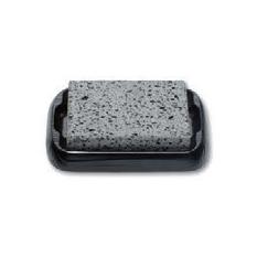 鉄器 熔岩石焼セット(大) [29.5 x 19 x 3.8cm ・石板 22 x 15 x 1.8 cm] (7-919-25) 【料亭 旅館 和食器 飲食店 業務用】