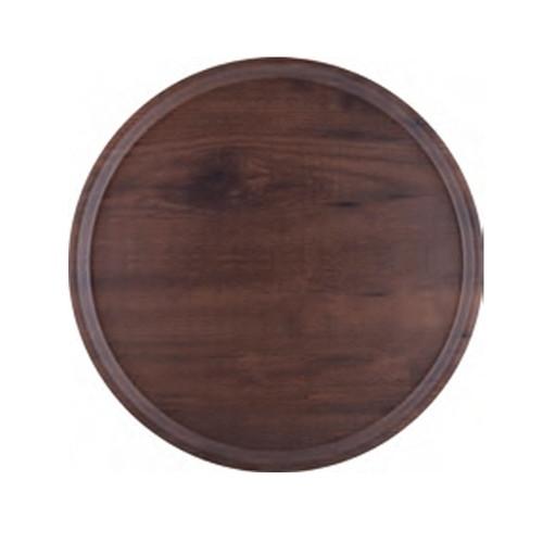 ラウンドトレー ブラウン (大) [ 45φ x 1.6cm ] [ お盆 ] | 飲食店 社食 学食 配膳 ホテル 和食 業務用