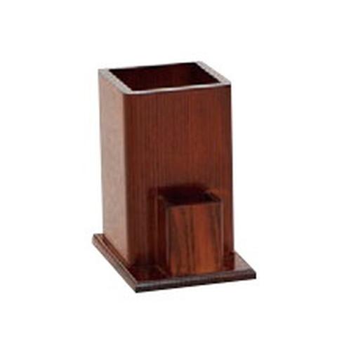 箸立て(楊枝入れ付) ブラウン [ 11.5 x 9 x 13.8cm ] [ 卓上小物 ] | 飲食店 和食 そば屋 定食屋 業務用