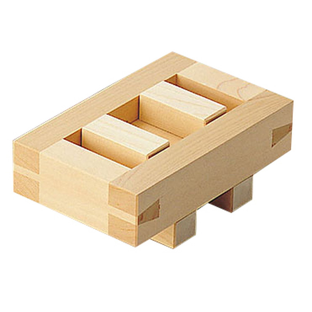 檜・押型 箱寿司 [ 内寸:約15.3 x 7.5 x H5cm ] 【 調理道具 】 | 飲食店 和食 寿司店 旅館 料亭 厨房 業務用