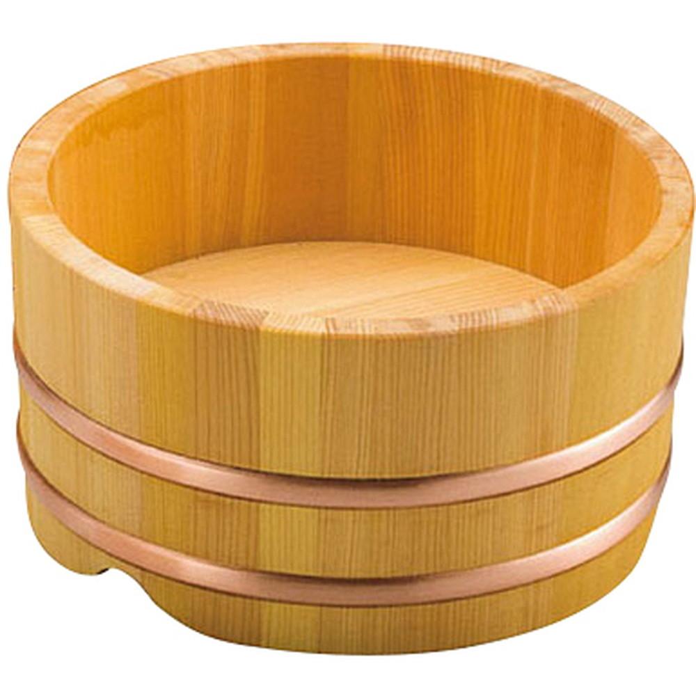椹・新型うどん桶 6寸 [ 約Φ18 x H9.5cm 内高約5.5cm ] 【 うどん桶 】   飲食店 和食 うどん屋 蕎麦 麺 手打ち 厨房 業務用