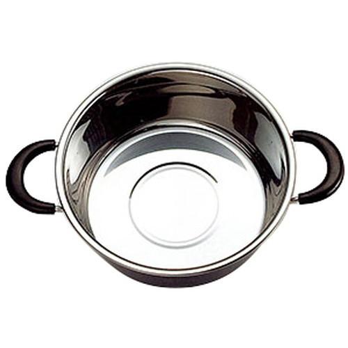 ステンレス外輪鍋 (小) [ 約Φ26 x H9.5cm ] 【 せいろ 】 | 飲食店 和食 中華 蒸し器 厨房 旅館 ホテル 業務用
