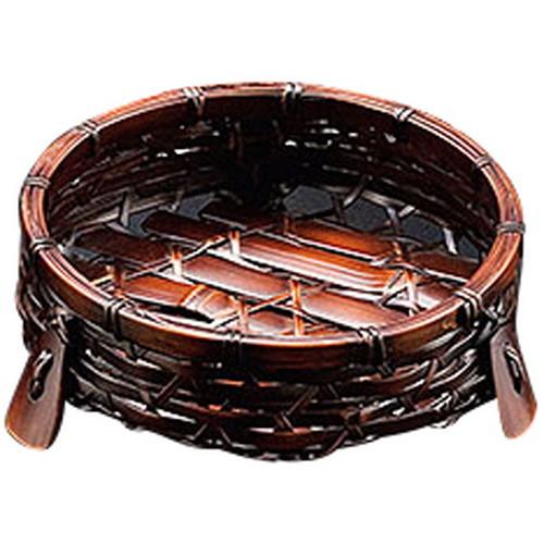 オードブル皿 (黒染) 小 [ 約Φ14 x H5cm ] 【 竹製品 】 | 旅館 料亭 ホテル 飲食店 和食 和食器 業務用