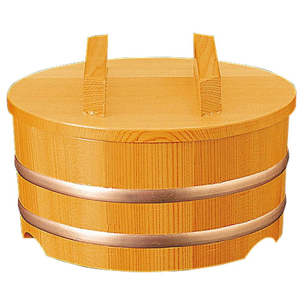 椹・ちらし桶 深型 蓋付 [ 約Φ15 x H総12(身9)cm ] 【 おひつ 】 | 和食 和食器 旅館 料亭 ホテル 飲食店 お寿司 業務用