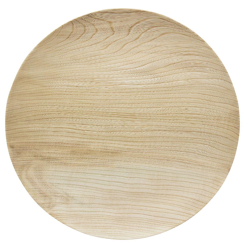 was 平皿 中 ナチュラル [ 約Φ20 x H2.5cm ] 【 木製皿 】 | 飲食店 レストラン カフェ 洋食 器 業務用 自宅用