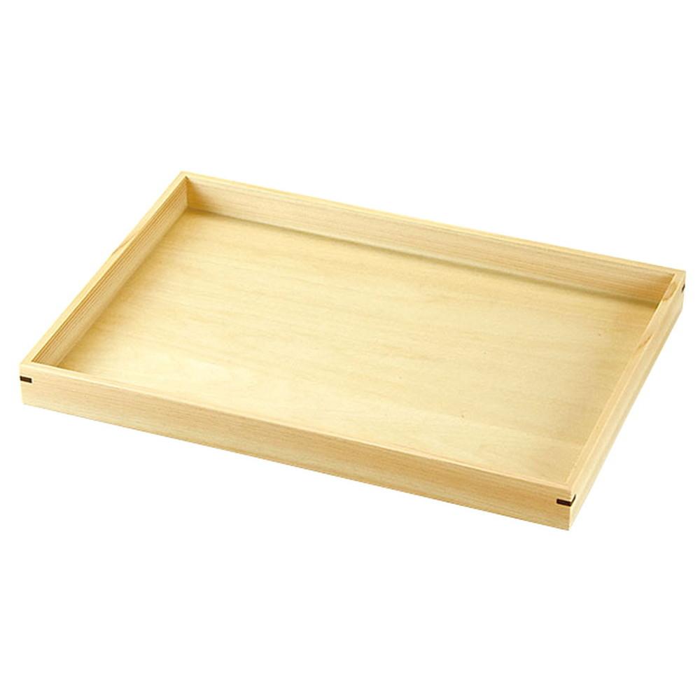 桧・マルチトレイ 小 [ 約30 x 21 x H2.5cm ] 【 お盆 】   飲食店 和食 カフェ 定食 業務用