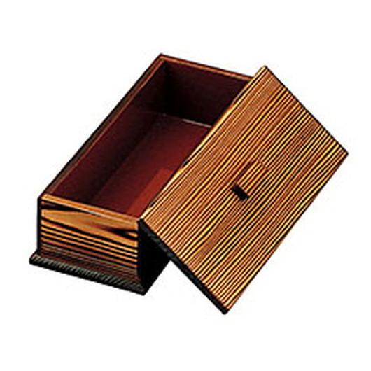 焼杉箸箱 (内朱) [ 約23.5 x 9 x H7cm (N-23) ] 【 卓上用品 】 | 飲食店 和食 定食 洋食 蕎麦屋 ラーメン店 店舗 業務用