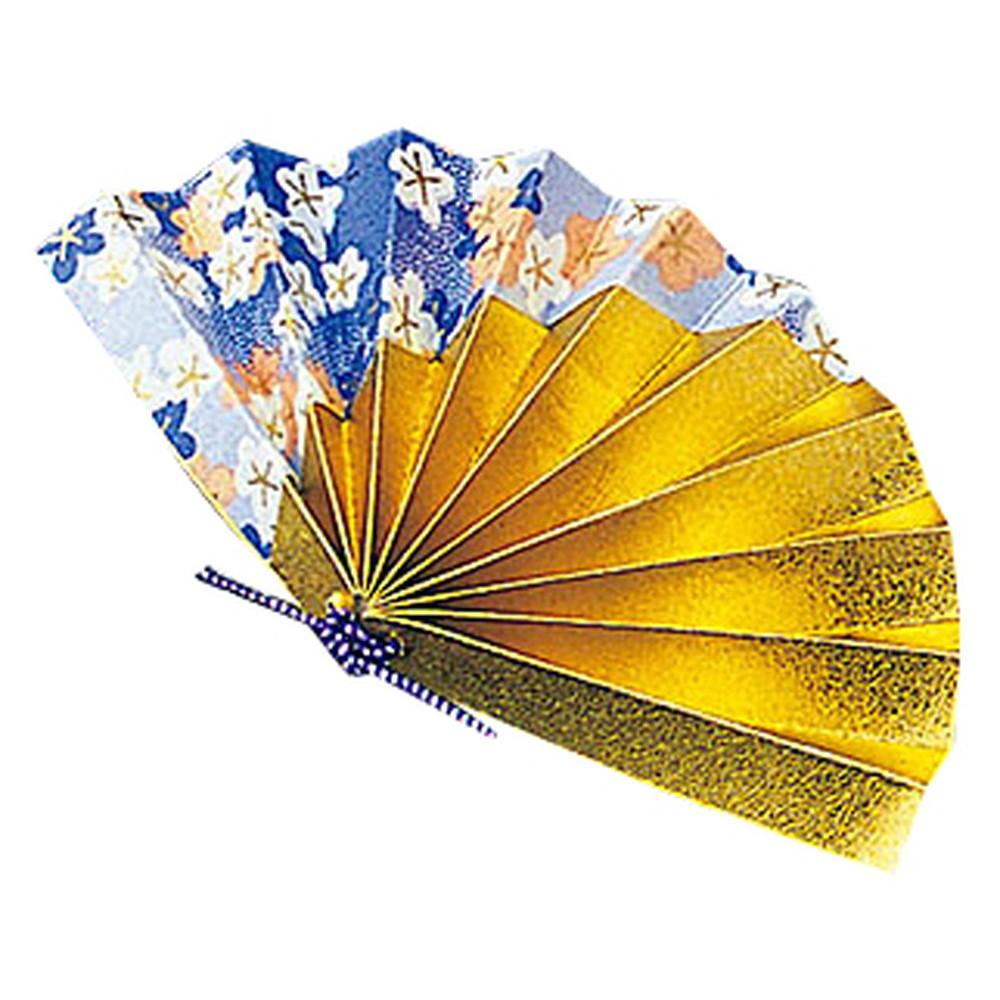 祝い扇子 (50ケ入) 青友禅 [ 約10 x 5.5cm ] 【 演出小物 】 | 正月 元旦 お節 お祝い 業務用 自宅用