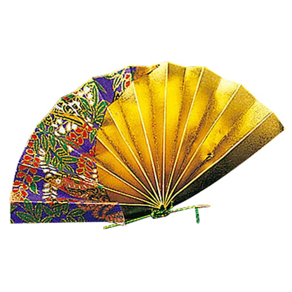 祝い扇子 (50ケ入) 紫友禅 [ 約10 x 5.5cm ] 【 演出小物 】 | 正月 元旦 お節 お祝い 業務用 自宅用