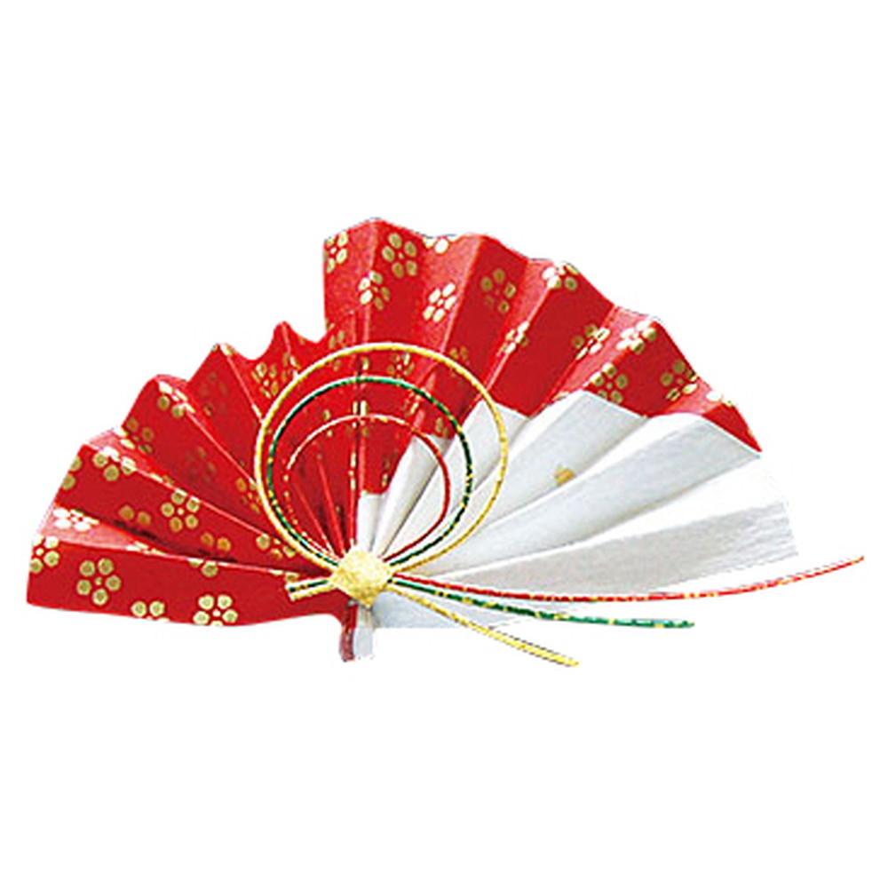 祝い扇子 (50ケ入) 梅 [ 約12 x 6.5cm ] 【 演出小物 】 | 正月 元旦 お節 お祝い 業務用 自宅用