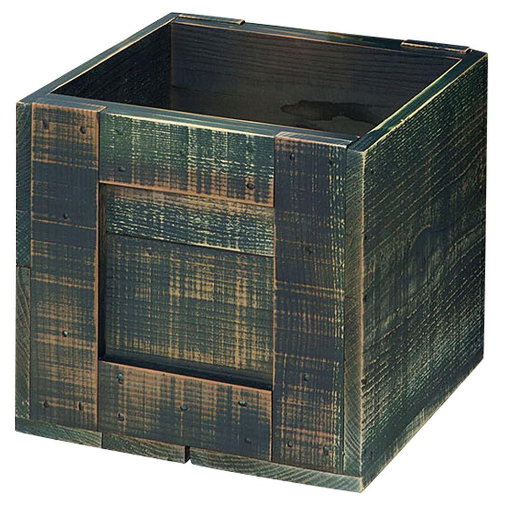 杉・木箱 (小) ダークブルー [ 30 x 30 x 30cm ] 【 什器 】   店舗 陳列 什器 業務用