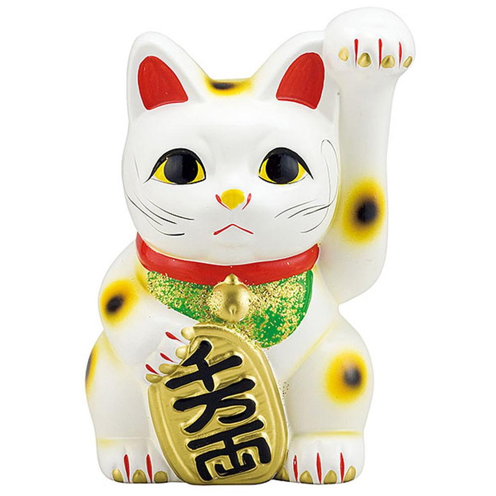 招き猫 白 10号 [ 約H35.5cm ] 【 置物 】 | 招き猫 ねこ cat 縁起物 お土産 かわいい おしゃれ 飾り 玄関飾り 開運 商売繁盛 家内安全 お守り まねきねこ プレゼント ギフト 贈り物 開店祝い