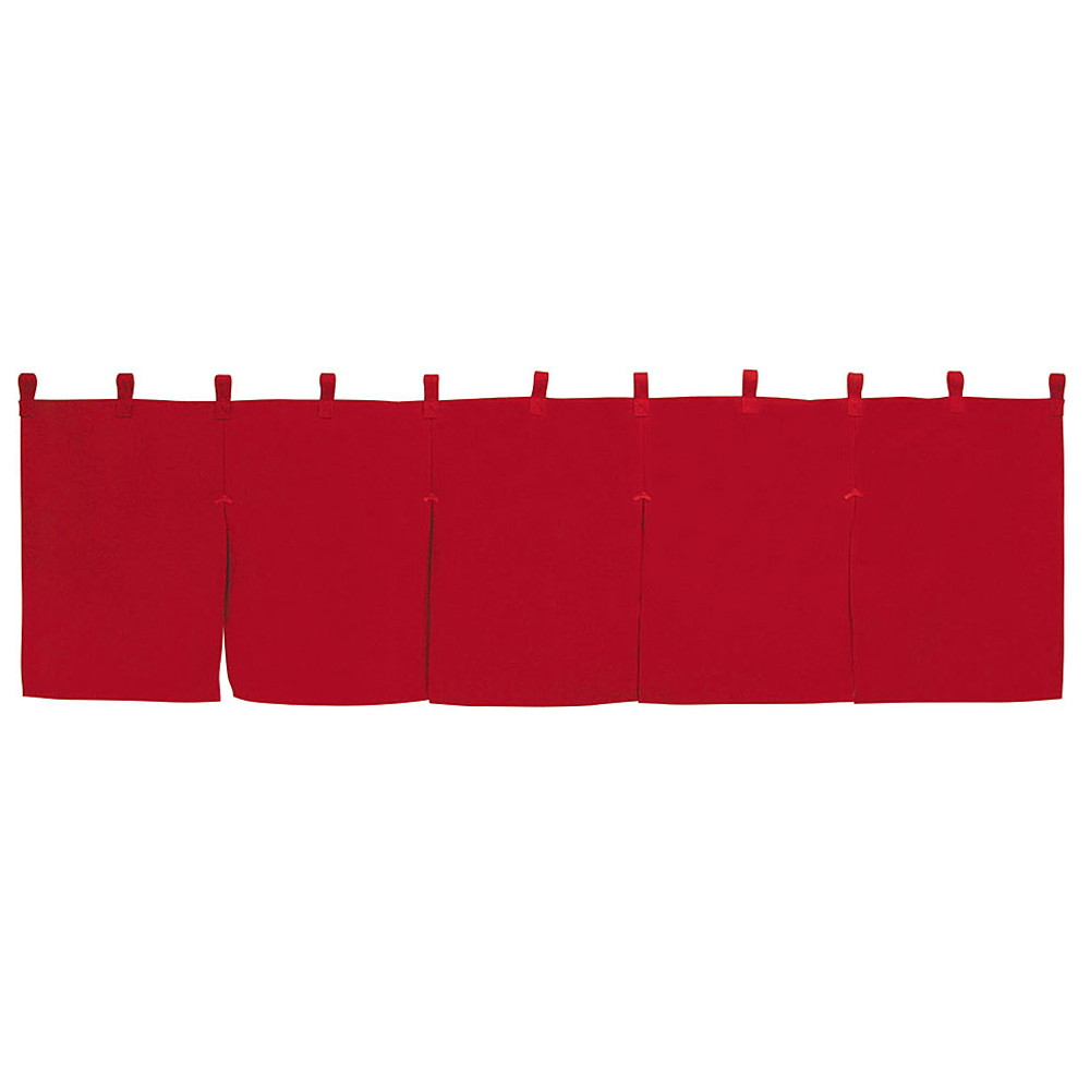 5巾のれん エンジ [ 約175 x 50cm ] 【 のれん 】 | 飲食店 店舗 和食 厨房 入口 軒先 暖簾 業務用