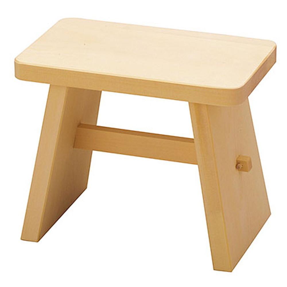 ヒバ・特選風呂椅子 (小) [ 約30 x 18 x H25cm ] 【 浴場用品 】   温泉 銭湯 ホテル 旅館 木製 お風呂 入浴