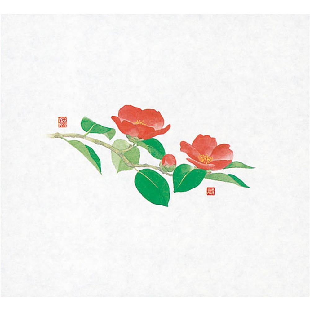 遠赤保鮮紙 (大) 100枚入 椿(11月~2月) [ 約18 x 19.5cm ] 【 保鮮紙 】 | 和食 料亭 旅館 懐石 ホテル 飲食店 業務用
