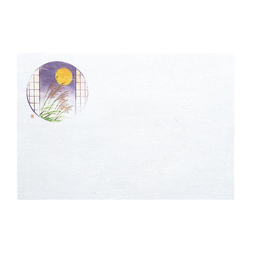 懐石まっと 尺3 枯淡 100枚入 お月見 (9月~10月) [ 約26.4 x 39cm ] 【 懐石マット 】 | 旅館 料亭 ホテル 宴会 懐石 和食 イベント 業務用