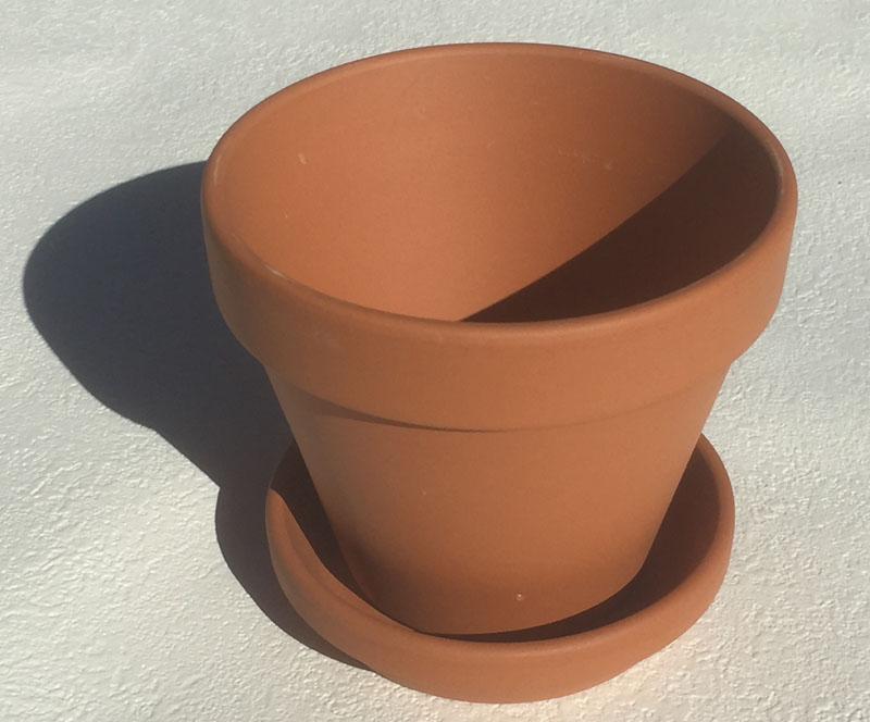 ドイツ製 テラコッタ おしゃれ 限定品 正規品送料無料 植木鉢 内径8cm ドイツ鉢と受皿 A8dish