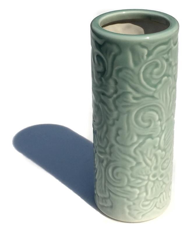 ご先祖供養に 花瓶 唐草投入 販売期間 限定のお得なタイムセール 7号 数量限定 供養 仏器 祭壇 花立