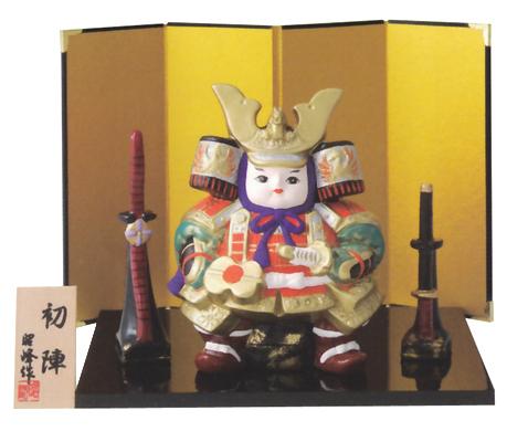 童大将初陣(陶器/五月人形)
