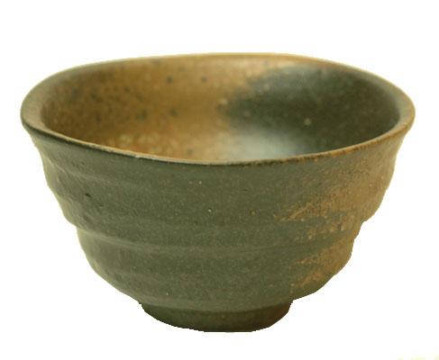 お値段以上 黒備前吹き ラッピング無料 変形煎茶 湯のみ おしゃれ湯飲み セール特価品