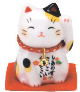メイルオーダー 開運到来 開店祝い お部屋のインテリアに 新作アイテム毎日更新 みけ 彩絵招き猫