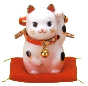 招き猫 置物 贈り物 送料無料 期間限定お試し価格 新品 開運 赤 左手 縁起物 彩絵ふく福招き猫