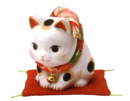 招き猫 人気の製品 置物 贈り物 開運 アウトレット 中 彩絵ふく福おじぎ猫 縁起物