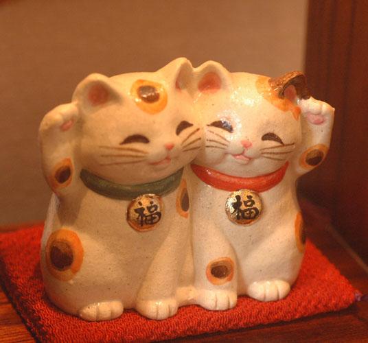 結婚祝い 誕生日プレゼント スーパーセール 縁結びに 開運アップ 福々招き猫ペア 開運アイテム お祝い 販売 まねき猫 風水 グッズ 招き猫 ストア