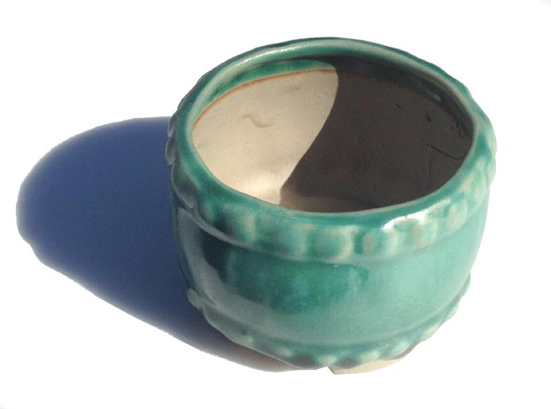 陶翠緑釉タイコ 定番 信託