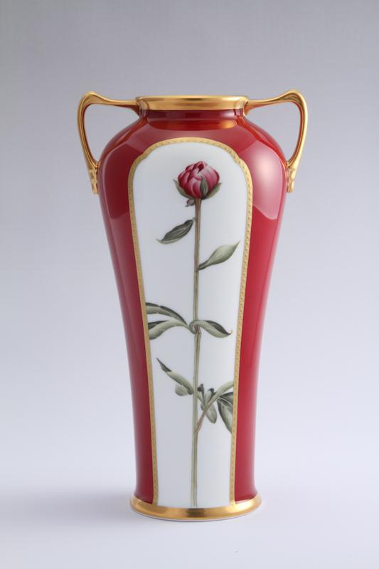 ノリタケの厳しいクラフトマンシップがもたらす芸術作品 ノリタケ アートコレクションダリア絵素描花瓶