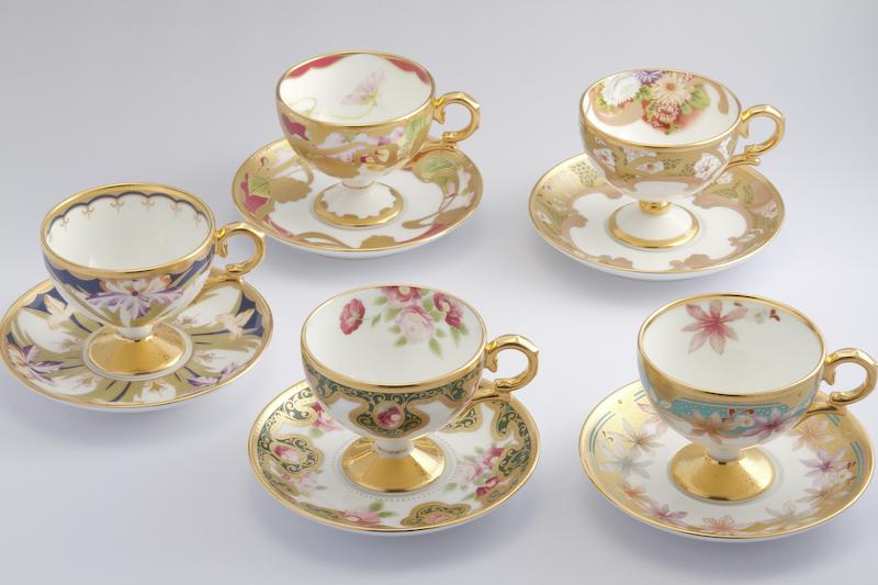 ノリタケ アートコレクション和花 ティ・コーヒー碗皿アソートセット