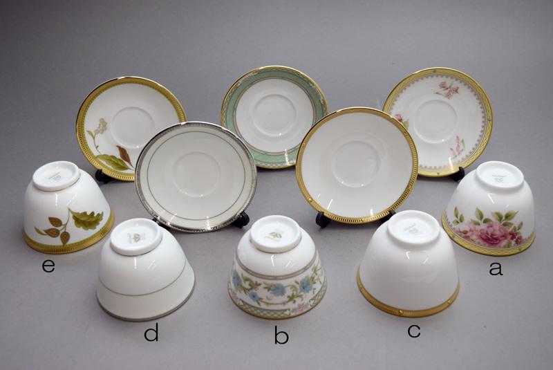 ノリタケアジアンティー碗皿セット(5客絵変り)
