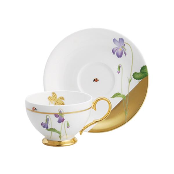 ノリタケ アートコレクション レディーバグ ティー・コーヒー碗皿(ニオイスミレ) t50787_t772-2 代引き注文不可