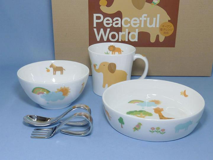 Noritake child tableware peaceful world 5-piece child set