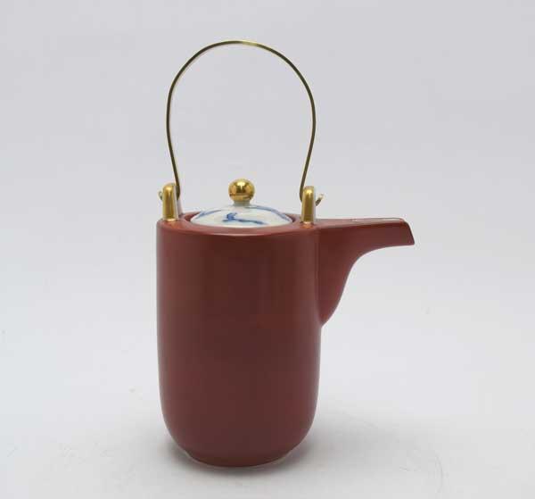 岐阜県多治見 蔵珍窯赤巻 石瓶(酒器)
