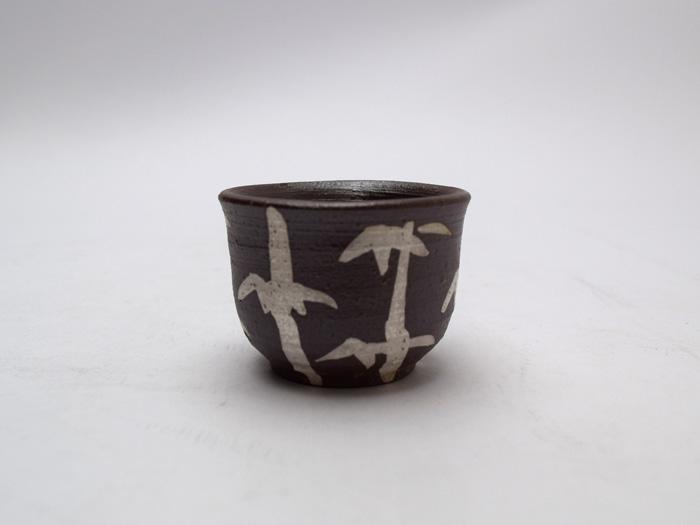 美味しいお酒を愉しむひと時のうつわです 岐阜県多治見 蔵珍窯染付竹林盃 お求めやすく価格改定 新入荷 流行