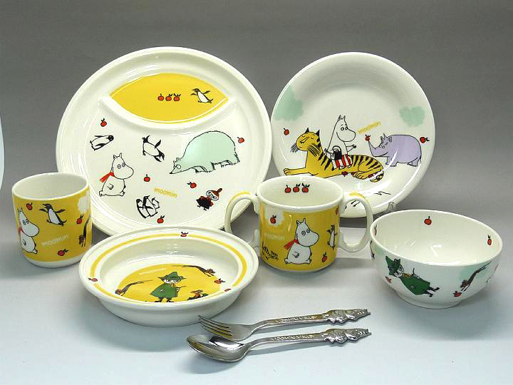 Moomin kids tableware daily. Japan-made Moomin kids Dinnerware. Design can be used both boys and girls. & Setomonoya-Misaden | Rakuten Global Market: ! Moomin kids ...