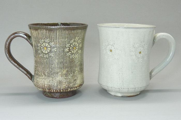 京都 清水焼櫛目印華 マグカップ・ペア