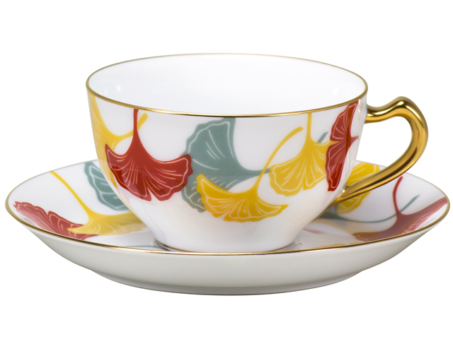 見事な 100周年カウントダウン 碗皿シリーズ第1弾「銀杏模様」ティー・コーヒー碗皿, TOOL-GYM a0b82645