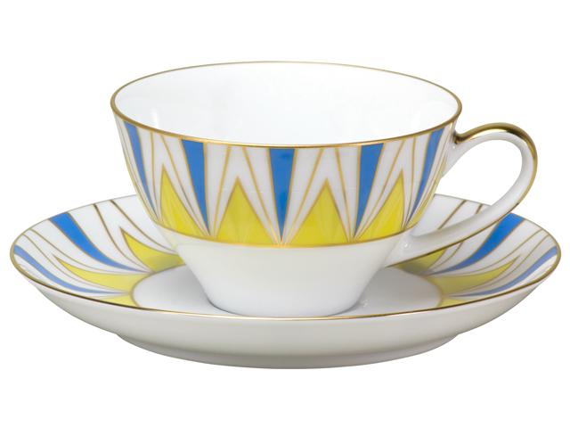 100周年カウントダウン 碗皿シリーズ第1弾「アール・デコ」ティー・コーヒー碗皿