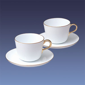大倉陶園 ゴールドライン 1001  モーニング碗皿ペアセット