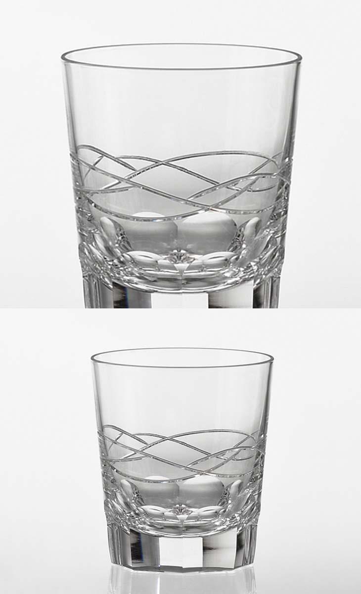 (・)カガミクリスタル「ロックグラス<宙-SORA->」(品番 - T9852-2850)(木箱入)口径83mmx高さ93mm(280cc)各務クリスタル【江戸切子 ロックグラス】江戸切子 ロック グラス【ウィスキー グラス】ウィスキー グラス